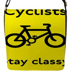 Stay Classy Bike Cyclists Sport Flap Messenger Bag (s) by Mariart