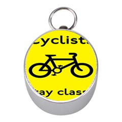 Stay Classy Bike Cyclists Sport Mini Silver Compasses by Mariart