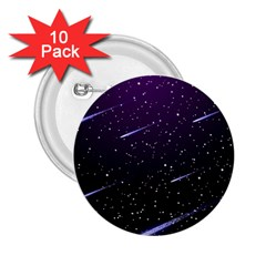 Starry Night Sky Meteor Stock Vectors Clipart Illustrations 2 25  Buttons (10 Pack)