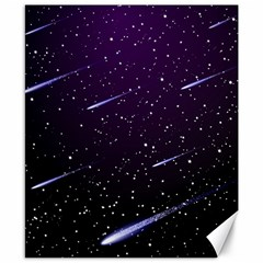 Starry Night Sky Meteor Stock Vectors Clipart Illustrations Canvas 8  X 10  by Mariart