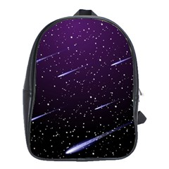 Starry Night Sky Meteor Stock Vectors Clipart Illustrations School Bags(large)