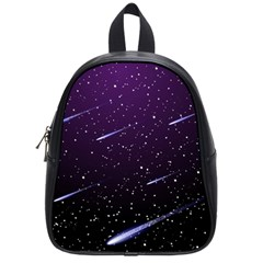 Starry Night Sky Meteor Stock Vectors Clipart Illustrations School Bags (small)  by Mariart