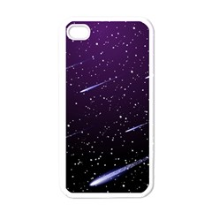 Starry Night Sky Meteor Stock Vectors Clipart Illustrations Apple Iphone 4 Case (white) by Mariart
