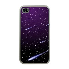 Starry Night Sky Meteor Stock Vectors Clipart Illustrations Apple Iphone 4 Case (clear) by Mariart