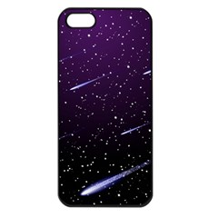Starry Night Sky Meteor Stock Vectors Clipart Illustrations Apple Iphone 5 Seamless Case (black) by Mariart