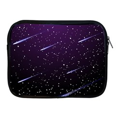 Starry Night Sky Meteor Stock Vectors Clipart Illustrations Apple Ipad 2/3/4 Zipper Cases by Mariart