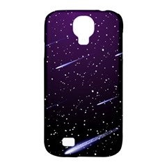 Starry Night Sky Meteor Stock Vectors Clipart Illustrations Samsung Galaxy S4 Classic Hardshell Case (pc+silicone) by Mariart