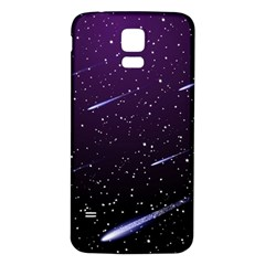 Starry Night Sky Meteor Stock Vectors Clipart Illustrations Samsung Galaxy S5 Back Case (white) by Mariart
