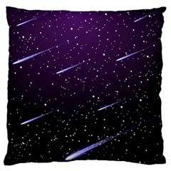 Starry Night Sky Meteor Stock Vectors Clipart Illustrations Large Flano Cushion Case (two Sides)