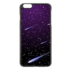 Starry Night Sky Meteor Stock Vectors Clipart Illustrations Apple Iphone 6 Plus/6s Plus Black Enamel Case by Mariart
