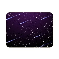Starry Night Sky Meteor Stock Vectors Clipart Illustrations Double Sided Flano Blanket (mini)  by Mariart