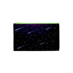 Starry Night Sky Meteor Stock Vectors Clipart Illustrations Cosmetic Bag (xs) by Mariart
