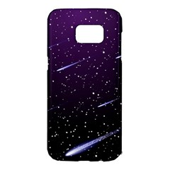 Starry Night Sky Meteor Stock Vectors Clipart Illustrations Samsung Galaxy S7 Edge Hardshell Case by Mariart