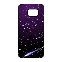 Starry Night Sky Meteor Stock Vectors Clipart Illustrations Samsung Galaxy S7 Edge Black Seamless Case
