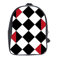 Survace Floor Plaid Bleck Red White School Bags(large)  by Mariart