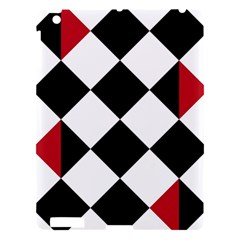 Survace Floor Plaid Bleck Red White Apple Ipad 3/4 Hardshell Case by Mariart