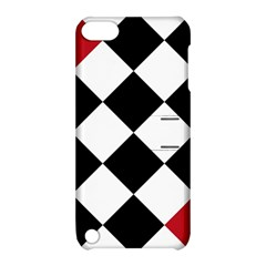 Survace Floor Plaid Bleck Red White Apple Ipod Touch 5 Hardshell Case With Stand by Mariart