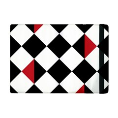 Survace Floor Plaid Bleck Red White Ipad Mini 2 Flip Cases by Mariart