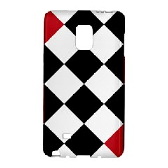 Survace Floor Plaid Bleck Red White Galaxy Note Edge by Mariart