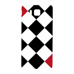Survace Floor Plaid Bleck Red White Samsung Galaxy Alpha Hardshell Back Case by Mariart