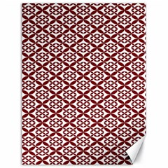 Pattern Kawung Star Line Plaid Flower Floral Red Canvas 18  X 24   by Mariart
