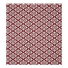 Pattern Kawung Star Line Plaid Flower Floral Red Shower Curtain 66  X 72  (large)  by Mariart