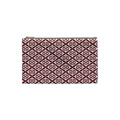 Pattern Kawung Star Line Plaid Flower Floral Red Cosmetic Bag (small)  by Mariart