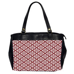 Pattern Kawung Star Line Plaid Flower Floral Red Office Handbags (2 Sides)  by Mariart