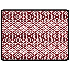 Pattern Kawung Star Line Plaid Flower Floral Red Fleece Blanket (large)  by Mariart
