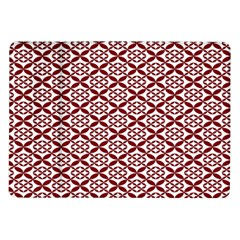 Pattern Kawung Star Line Plaid Flower Floral Red Samsung Galaxy Tab 10 1  P7500 Flip Case by Mariart
