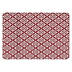 Pattern Kawung Star Line Plaid Flower Floral Red Samsung Galaxy Tab 8 9  P7300 Flip Case by Mariart
