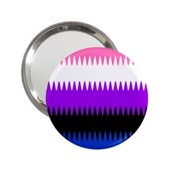 Sychnogender Techno Genderfluid Flags Wave Waves Chevron 2 25  Handbag Mirrors by Mariart