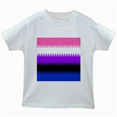 Sychnogender Techno Genderfluid Flags Wave Waves Chevron Kids White T Shirts by Mariart