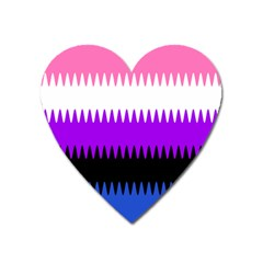 Sychnogender Techno Genderfluid Flags Wave Waves Chevron Heart Magnet by Mariart