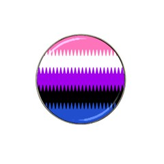 Sychnogender Techno Genderfluid Flags Wave Waves Chevron Hat Clip Ball Marker by Mariart