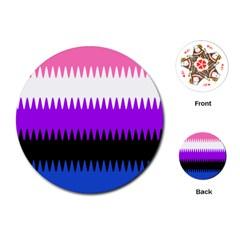 Sychnogender Techno Genderfluid Flags Wave Waves Chevron Playing Cards (round)  by Mariart