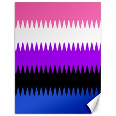Sychnogender Techno Genderfluid Flags Wave Waves Chevron Canvas 12  X 16   by Mariart
