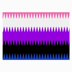 Sychnogender Techno Genderfluid Flags Wave Waves Chevron Large Glasses Cloth by Mariart