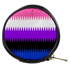 Sychnogender Techno Genderfluid Flags Wave Waves Chevron Mini Makeup Bags