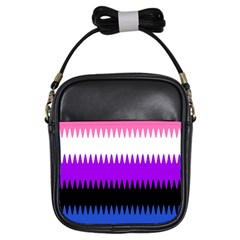 Sychnogender Techno Genderfluid Flags Wave Waves Chevron Girls Sling Bags by Mariart