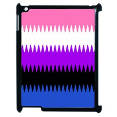 Sychnogender Techno Genderfluid Flags Wave Waves Chevron Apple Ipad 2 Case (black)