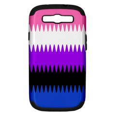 Sychnogender Techno Genderfluid Flags Wave Waves Chevron Samsung Galaxy S Iii Hardshell Case (pc+silicone) by Mariart
