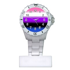 Sychnogender Techno Genderfluid Flags Wave Waves Chevron Plastic Nurses Watch by Mariart