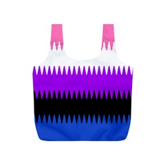 Sychnogender Techno Genderfluid Flags Wave Waves Chevron Full Print Recycle Bags (s)  by Mariart