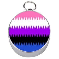 Sychnogender Techno Genderfluid Flags Wave Waves Chevron Silver Compasses by Mariart