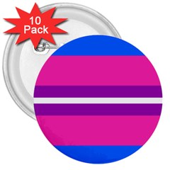 Transgender Flags 3  Buttons (10 Pack)