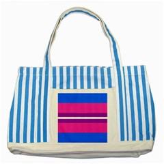 Transgender Flags Striped Blue Tote Bag by Mariart