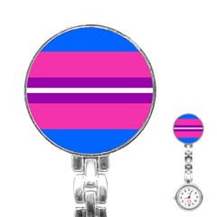 Transgender Flags Stainless Steel Nurses Watch by Mariart