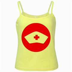 Tabla Laboral Sign Red White Yellow Spaghetti Tank