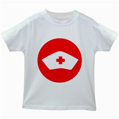 Tabla Laboral Sign Red White Kids White T Shirts by Mariart